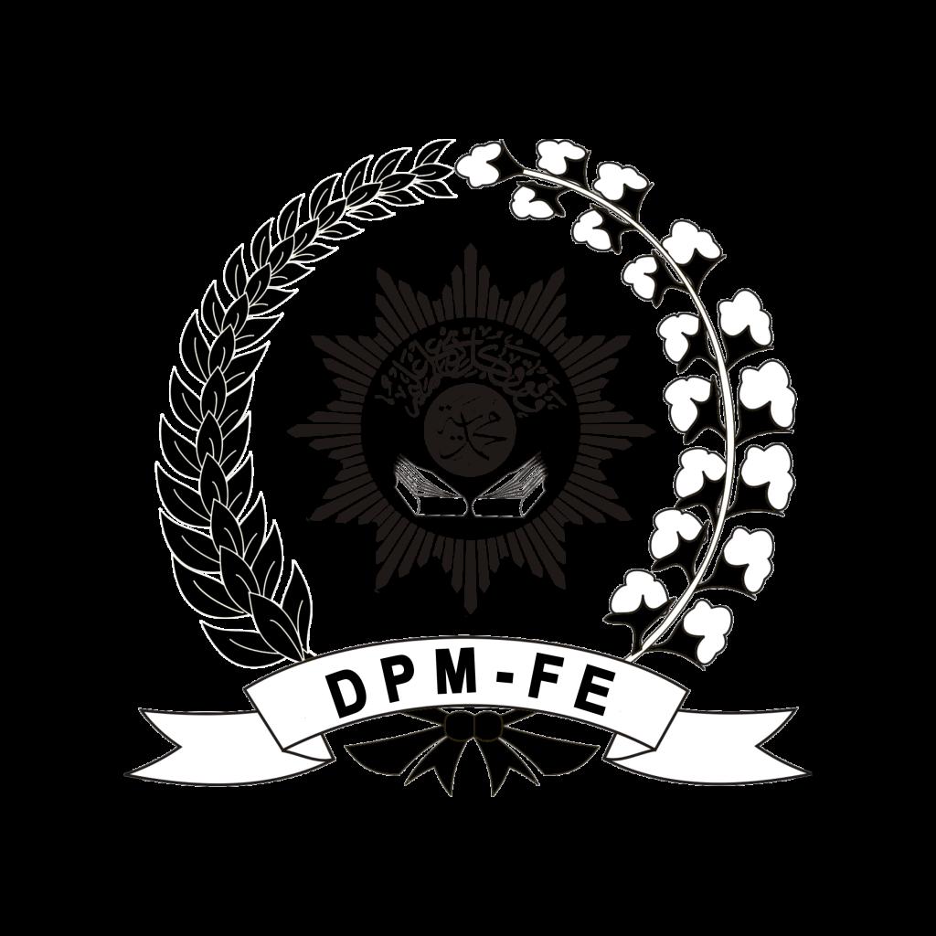 Logo DPM FE Hitam Putih